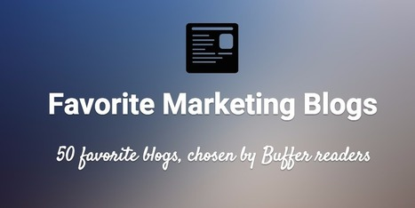 50 Favorite Marketing, Social, and Productivity Blogs | GooglePlus Expertise | Scoop.it