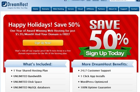 Happy Holidays! Save 50% | | DreamHost | Web Hosting By DreamHost | Scoop.it