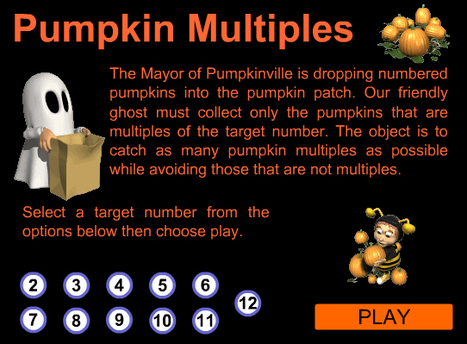 Pumpkin Multiples Multiplication Game | Multiplication Memorization | Scoop.it