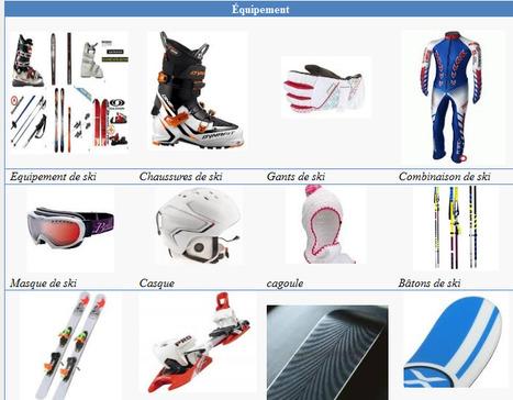Ski - Lexique | FLE enfants | Scoop.it