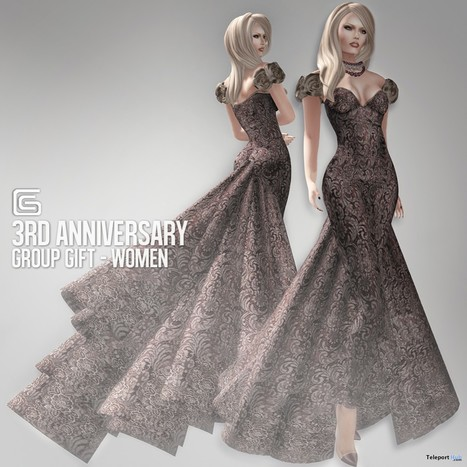 Formal Gown 3rd Anniversary Group Gift by Gizza Creations | Teleport Hub - Second Life Freebies | Second Life Freebies | Scoop.it