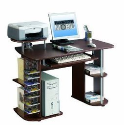 Techni Mobili Nevada Modern Computer Desk Chocolate Review | Home Office Furniture | Scoop.it