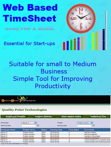 QualityPoint Technologies Release Latest Version - Web based TimeSheet Script 3.1.3 | TimeSheet | Scoop.it