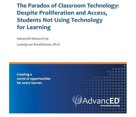 [PDF] The paradox of classroom technology | Digital Learning - beyond eLearning and Blended Learning in Higher Education | Scoop.it