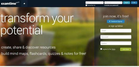 Examtime : une suite gratuite en ligne Mindmapping, mais pas que...   Entrepreneurs du Web   Scoop.it