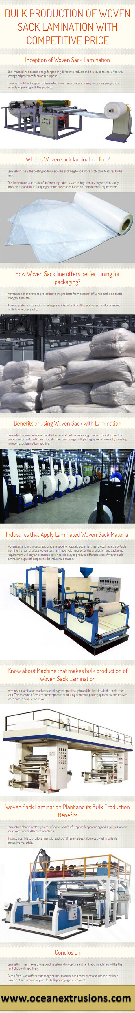 Bulk Production of Woven Sack Lamination with Competitive Price | oceanextrusions | Scoop.it