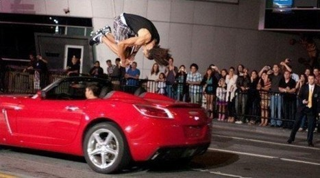 Meet the Human Spring Who Can Jump over Moving Cars | Strange days indeed... | Scoop.it