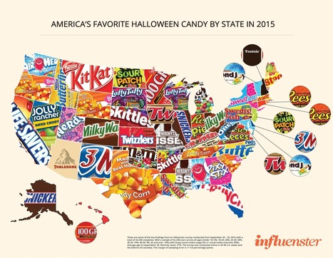 America's Favorite Halloween Candy State By State | Influenster | Illuminating Brand and Culture | Scoop.it