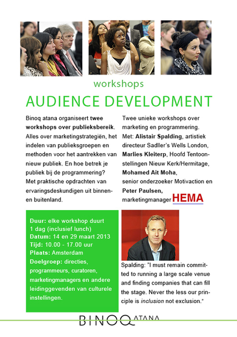 binoq workshops audience development | innovation and diversity | Scoop.it