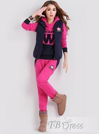 Best New Arrival Three Pieces Set Hooded Thicken Sport Suit   fashion girl   Scoop.it