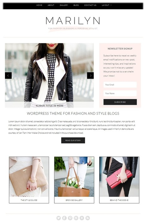 Best wordpress themes for fashion blogs and website - Passive Online Income Ideas | passive online income ideas | Scoop.it