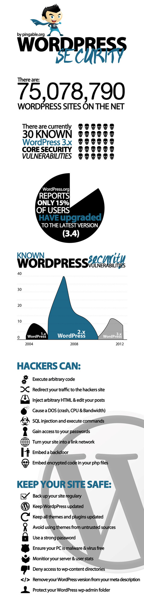 WordPress Security #infographic via @BerriePelser | WordPress Google SEO and Social Media | Scoop.it