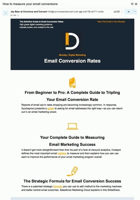 7 examples of exceptional curated emails [& how to create your own] | Scoop.it Blog | Digital Marketing by E-Marketing Vision | Scoop.it
