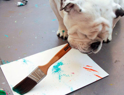 Meet Piper, the One-Eyed Bulldog with a Passion for Painting | Plein Air and Other Cool Art Stuff | Scoop.it