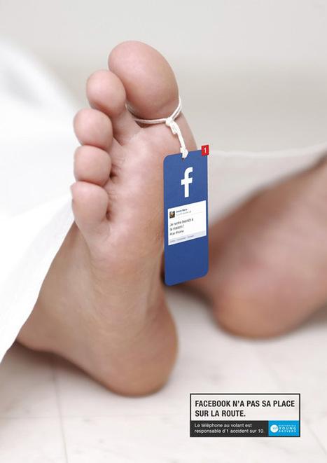 Une campagne choc contre l'utilisation des réseaux sociaux au volant - Manufacture créative Aether Concept | Internet world | Scoop.it
