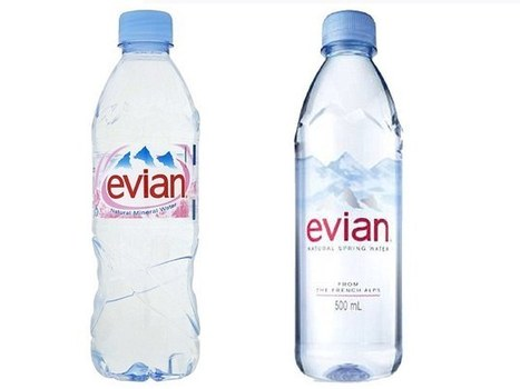 Evian revamps 'old and dated' bottle after brand falls behind in the designer water market (but will anyone spot the difference?) | coursework | Scoop.it