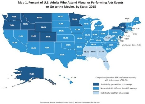 Informative Map Reveals the Geographic Creative Divide in America Between the North and South | Le It e Amo ✪ | Scoop.it