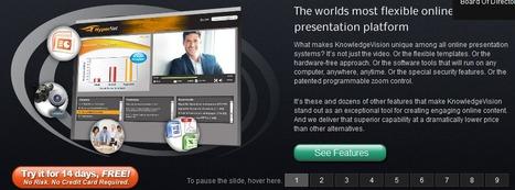 KnowledgeVision | Video Online Presentation Software Tools | Digital Presentations in Education | Scoop.it