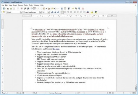 LibreOffice 3.6 released, download via web or torrent | TDF & LibreOffice | Scoop.it
