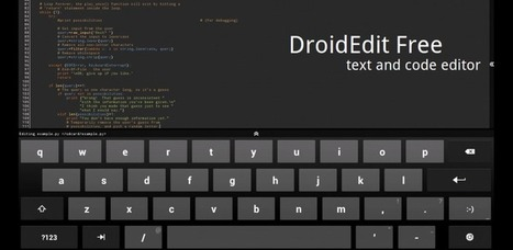 DroidEdit (free code editor) - Apps on Android Market | Android Apps | Scoop.it