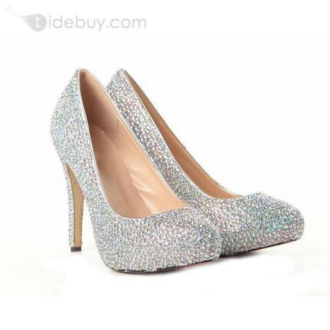 Shining Sheepskin Upper Stiletto Heel Closed-toe Wedding Prom Shoes | warmhat | Scoop.it