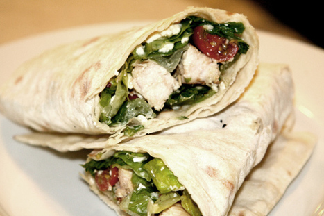 Recipe: Grilled Chicken Wrap | Lifestyle Nutrition | Scoop.it