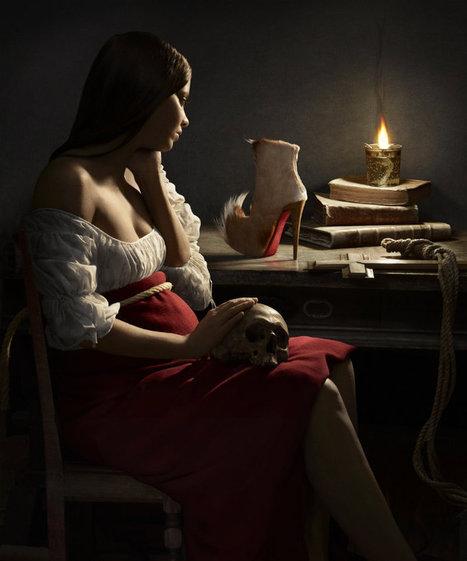 Des peintures classiques reproduites par Peter Lippmann pour la marque Louboutin | graphic-design | Scoop.it