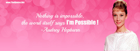 Facebook Cover Image - Audrey Hepburn Quotes - TheQuotes.Net | Facebook Cover Photos | Scoop.it