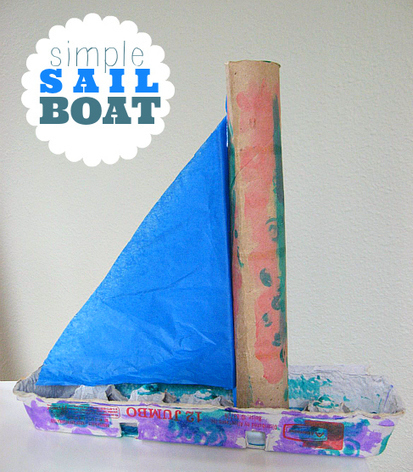 Recycled Sail Boat Archives - No Time For Flash Cards | Early Childhood Education | Scoop.it
