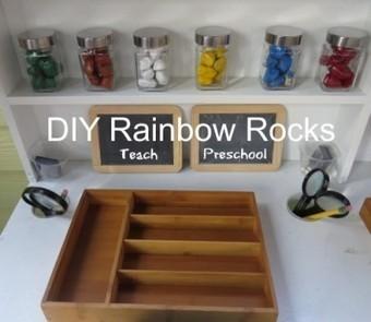 Exploring our DIY rainbow rocks in preschool | Teach Preschool | Scoop.it
