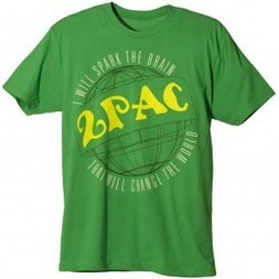 2Pac Spark the Brain T-Shirt kelly green T.A.S.F. 2pac Store | Authentic 2pac gear | 2pac shirt | Scoop.it