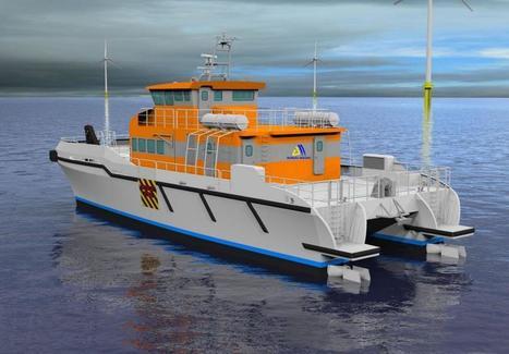 Bureau Mauric et Alumarine : Un crew boat pour l'éolien offshore | Eolien-Energies-marines | Scoop.it