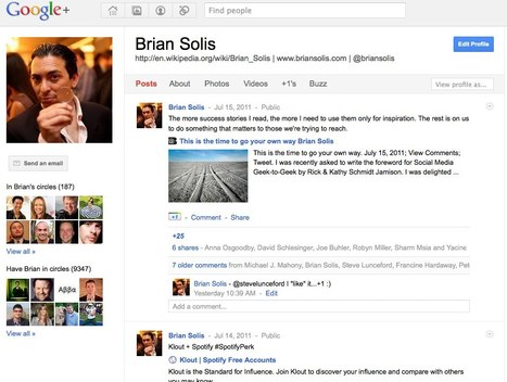 Google will not run Circles around Facebook, but it gets a +1 - Brian Solis With His First G+ Thoughts | Futurism, Ideas, Leadership in Business | Scoop.it