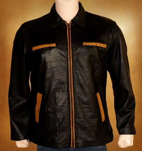 An adequate Fathom Women Leather Jacket is exclusive with orange stripes. | WOMEN JACKETS | Scoop.it