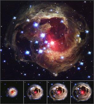 Τέχνης Σύμπαν και Φιλολογία: Η πιο λαμπρή «ηχώ» στον Γαλαξία, The evolution of the light echo around V838 Monocerotis | Τέχνης Σύμπαν και Φιλολογία | Scoop.it