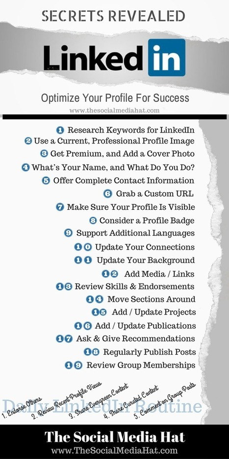 The Ultimate Guide to a Perfect LinkedIn Profile | The Content Marketing Hat | Scoop.it