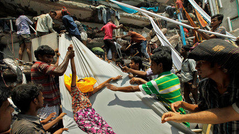 Local news on the garment industry: Deadly collapse - rescue ongoing | Virtual Field Trip - Dhaka | Scoop.it