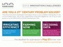 The Rockefeller Foundation launches the 2012 Innovation Challenges to find 21st century problem-solvers | Sustainable Futures | Scoop.it
