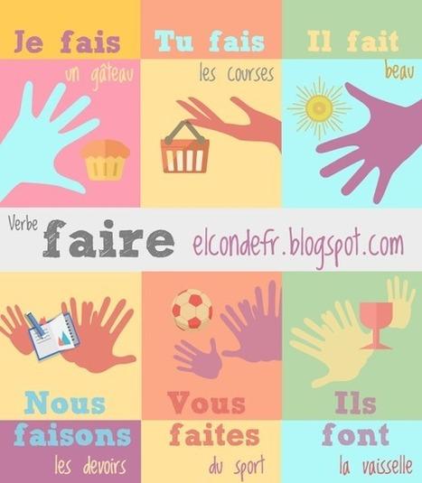 El Conde. fr: Le verbe faire au présent de l'indicatif | FLE enfants | Scoop.it