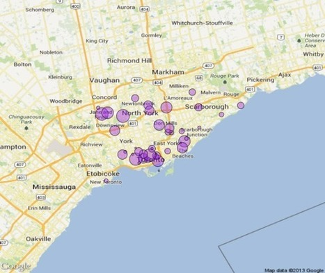 Data Visualization with R: RGoogleMaps and Toronto Open Data   Javalobby   Data Visualization: Know-how   Scoop.it