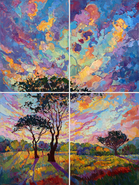 Oil #Landscapes Transformed into #Mosaics of #Colour by Erin Hanson. #painting | Luby Art | Scoop.it