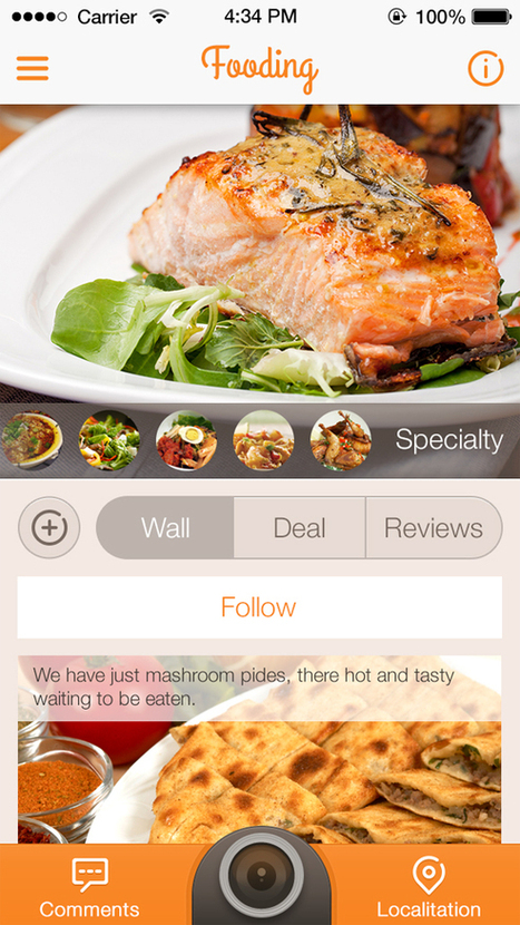 30 Tasty Food Mobile Application Designs for Foodies | Inspiration | Gourmet Traveler | Scoop.it