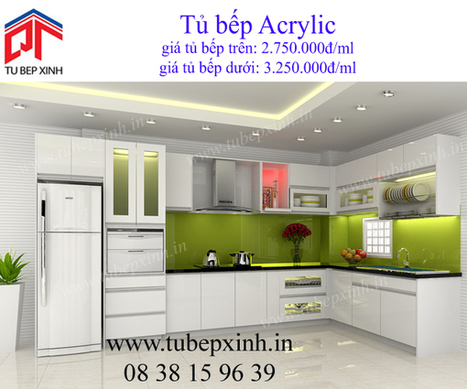 tủ bếp acrylic, tu bep acrylic, tủ bếp xinh, kệ bếp acrylic, tủ bếp, tu bep | TỦ BẾP ACRYLIC - GIÁ TỦ BẾP ACRYLIC | Scoop.it
