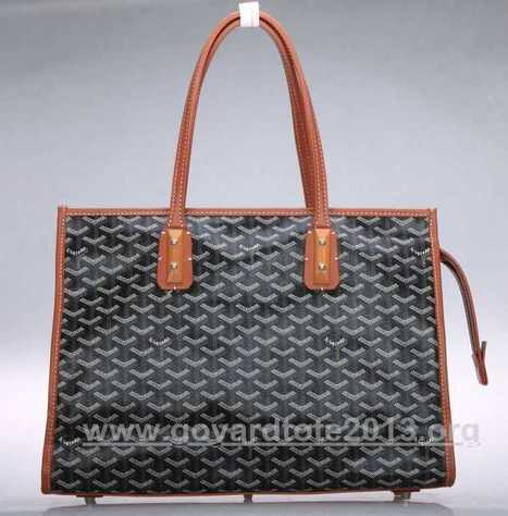 Goyard Sac Marquises Zippered Tote Bag Black With Coffee Store Online | nice website | Scoop.it