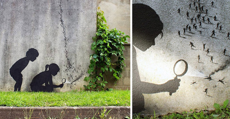 Humorous New Site-Specific Paintings on the Streets of Paris by Pejac | Culture and Fun - Art | Scoop.it