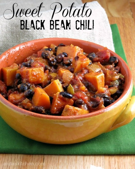 #HEALTHYRECIPE - Sweet Potato Black Bean Chili #SundaySupper | The Middle Way Rae | Scoop.it