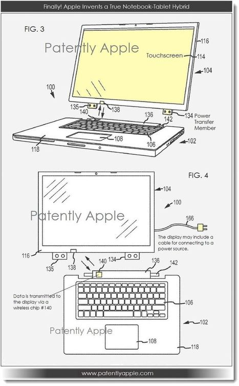 Finally! Apple Reveals their Hybrid Notebook Tablet Details - Patently Apple   Nerd Vittles Daily Dump   Scoop.it