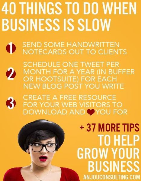 40 Things to do when Business is Slow (to help grow your business) | digital marketing strategy | Scoop.it