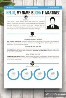 "Microsoft Word Resume Template & Cover Letter – ""John F. Martinez"" 