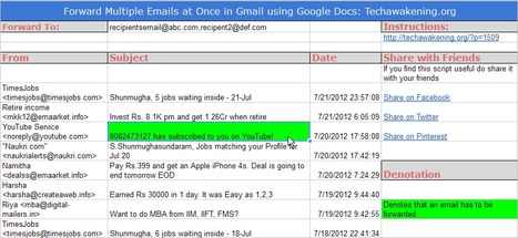 How to Forward Multiple Emails at Once in Gmail using Google Docs | Google Apps Script | Scoop.it